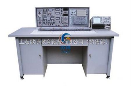 模,印有原理图及符号,反面为印刷导线并焊接相应元器件,基本实验电路