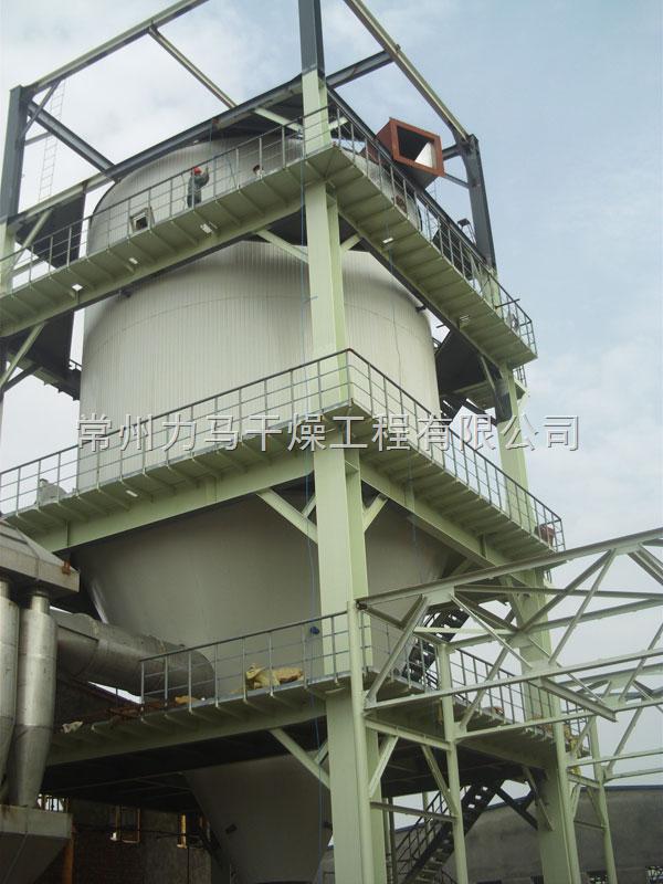 4,旋风除尘器和布袋除尘器回收料利用位差自流与干燥主塔下料合并,一