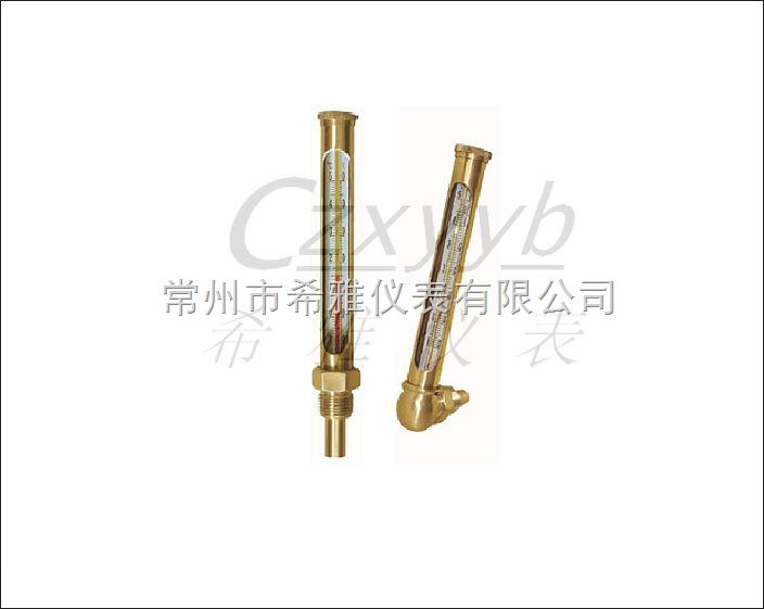 XY-012 船用铜套温度计广泛应用于锅炉、船舶、以及各类各类工业管道。 船用铜套温度计测温准确,外型美观,读数清晰,使用广泛。 分为:直式或角式 XY-012 船用铜套温度计标准温度范围:-50 +50、 0~50、 0~100、 0~150 0~200、0~300、0~500 可根据客户要求制造-50~500以内任意温度以及华氏温度() 保护套种类: 钢套(镀铬), 不锈钢套 感温液体: 红色有机液体 或 水银 上体标准长度: 150mm 或 220mm 探头标准长度:30mm 、40