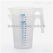 ISOLAB 进口蓝色刻度有把烧杯 PP材质
