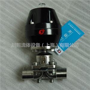 不锈钢气动焊接隔膜阀铝合金执行器