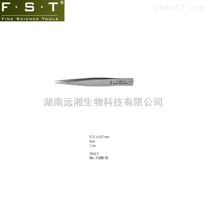 FST镊子11200-10 Dumont微型镊M3S 迷你镊子M3S FST动物解剖器械代理