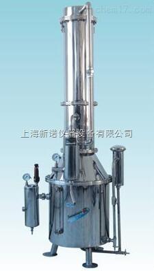 不鏽鋼塔式蒸汽重蒸餾水器 TZ400塔式不鏽鋼蒸汽重蒸餾水器