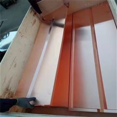 止水铜带 大坝用紫铜带 1mm*600mm紫铜板压槽 紫铜止水带