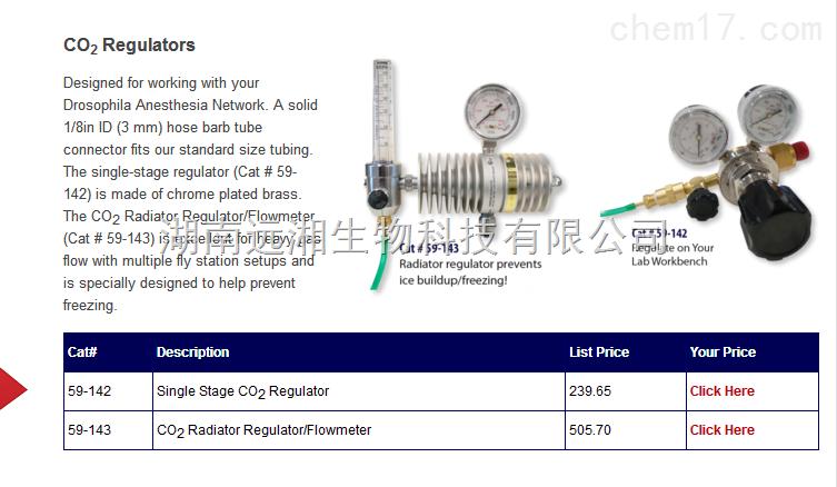 CO2 Regulator 59-143 Single Stage CO2 Regulator