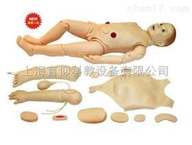 多功能三岁儿童护理模拟人|护理训练模型