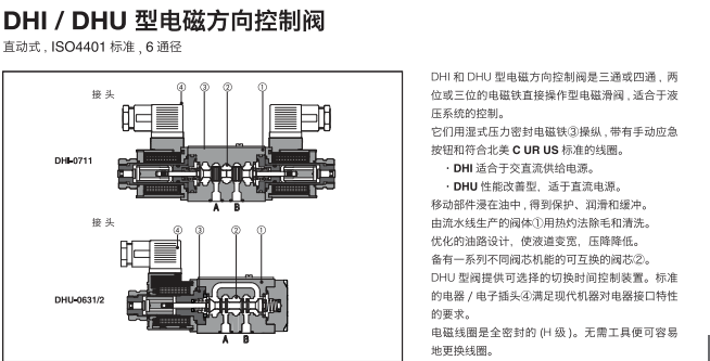 阀之家 电磁阀换向阀原理图 > 液压系统电磁换向阀  液压系统电磁换向图片