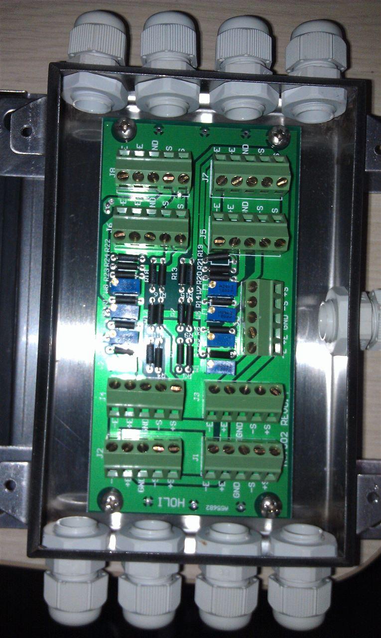 可调信号地磅接线盒,5孔可调信号接线盒