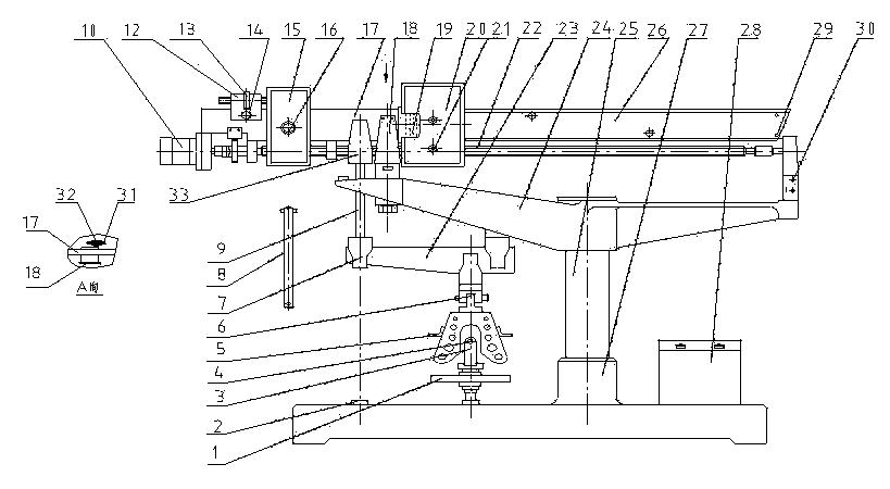 型水泥电动抗折机结构图;