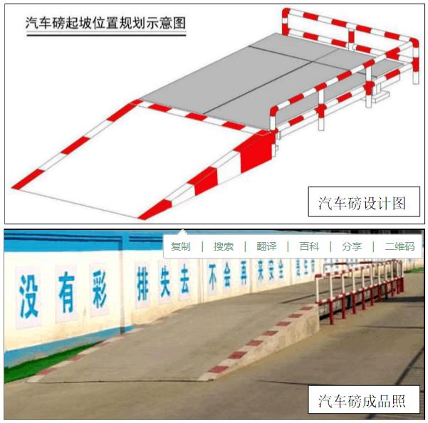 汽车磅安装坡道及防撞护栏设计