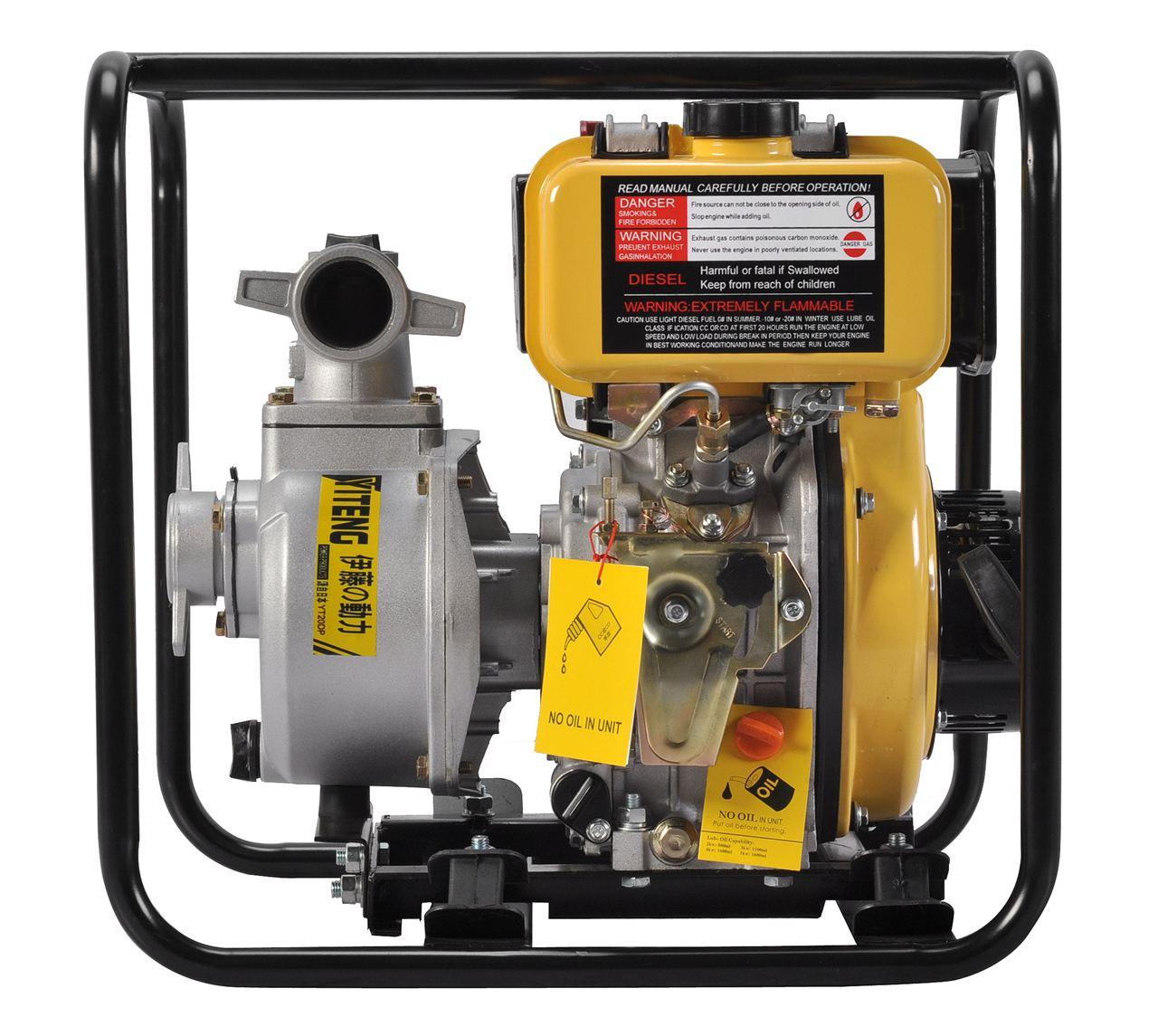 厂家直销便携式2寸3寸4寸小型柴油抽水泵。采用柴油为动力,全铜装置,机器的性能更加稳定,使用起来更加安全!应用范围广,经常用于工程和农业灌溉。水泵的流程、扬程和吸程较普通水泵来说更加大,让您从此不会因为接电不方便而感到烦恼!检查水泵的密封,检查时应先拔下电源插头,用手堵住吸水口,把水泵灌满水,用嘴衔住出口使劲往里吹气,观察泵头是否漏水,漏水之处也就是密封损坏之处。常见的故障部位有吸水口垫、出水口垫、叶轮盖垫,维修时应更换。若无满水现象,多是叶轮损坏、吸水室和出水室之间的挡水内隔蚀穿、泵头挡水隔磨平、叶轮和