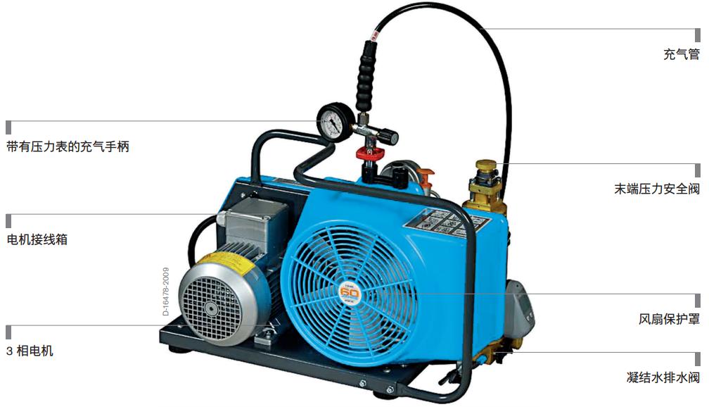 德尔格JUNIOR100空气充气泵