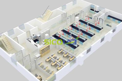 化学分析实验室平面设计图sicolab